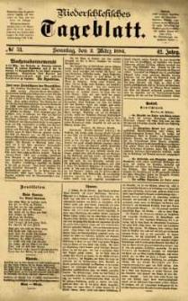 Niederschlesisches Tageblatt, no 53 (Sonntag, den 2. März 1884)