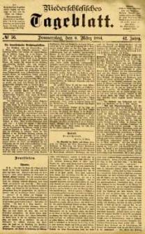 Niederschlesisches Tageblatt, no 56 (Donnerstag, den 6. März 1884)