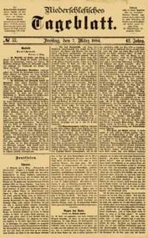 Niederschlesisches Tageblatt, no 57 (Freitag, den 7. März 1884)