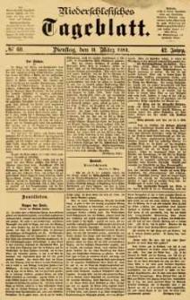 Niederschlesisches Tageblatt, no 60 (Dienstag, den 11. März 1884)