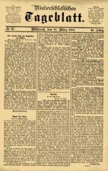 Niederschlesisches Tageblatt, no 67 (Mittwoch, den 19. März 1884)