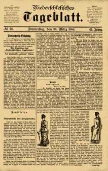 Niederschlesisches Tageblatt, no 68 (Donnerstag, den 20. März 1884)