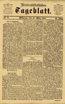 Niederschlesisches Tageblatt, no 73 (Mittwoch, den 26. März 1884)