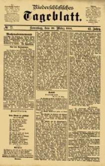 Niederschlesisches Tageblatt, no 77 (Sonntag, den 30. März 1884)