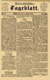 Niederschlesisches Tageblatt, no 79 (Mittwoch, den 2. April 1884)
