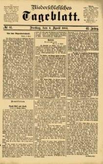 Niederschlesisches Tageblatt, no 81 (Freitag, den 4. April 1884)
