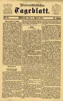 Niederschlesisches Tageblatt, no 85 (Mittwoch, den 9. April 1884)