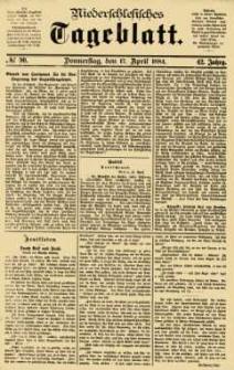 Niederschlesisches Tageblatt, no 90 (Donnerstag, den 17. April 1884)