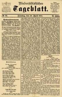 Niederschlesisches Tageblatt, no 93 (Sonntag, den 20. April 1884)