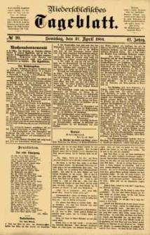 Niederschlesisches Tageblatt, no 99 (Sonntag, den 27. April 1884)