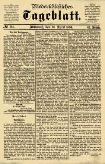 Niederschlesisches Tageblatt, no 101 (Mittwoch, den 30. April 1884)