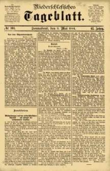 Niederschlesisches Tageblatt, no 104 (Sonnabend, den 3. Mai 1884)