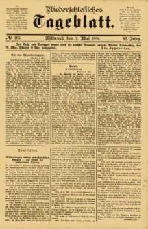 Niederschlesisches Tageblatt, no 107 (Mittwoch, den 7. Mai 1884)