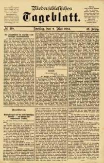 Niederschlesisches Tageblatt, no 108 (Freitag, den 9. Mai 1884)