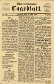 Niederschlesisches Tageblatt, no 110 (Sonntag, den 11. Mai 1884)