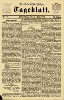 Niederschlesisches Tageblatt, no 113 (Donnerstag, den 15. Mai 1884)