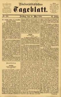 Niederschlesisches Tageblatt, no 114 (Freitag, den 16. Mai 1884)