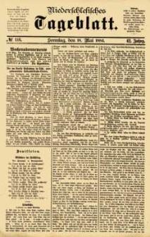 Niederschlesisches Tageblatt, no 116 (Sonntag, den 18. Mai 1884)