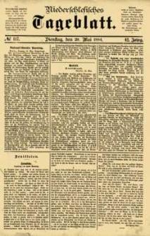 Niederschlesisches Tageblatt, no 117 (Dienstag, den 20. Mai 1884)