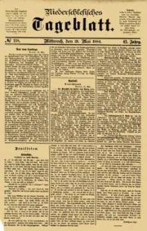 Niederschlesisches Tageblatt, no 118 (Mittwoch, den 21. Mai 1884)