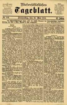 Niederschlesisches Tageblatt, no 119 (Donnerstag, den 22. Mai 1884)