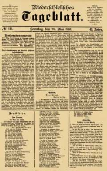 Niederschlesisches Tageblatt, no 121 (Sonntag, den 25. Mai 1884)