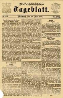 Niederschlesisches Tageblatt, no 123 (Mittwoch, den 28. Mai 1884)