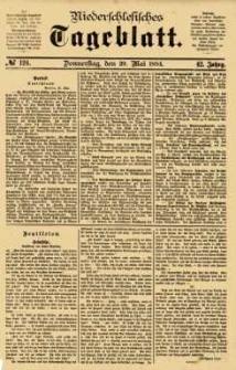 Niederschlesisches Tageblatt, no 124 (Donnerstag, den 29. Mai 1884)
