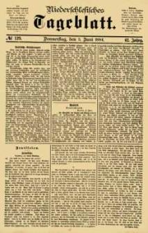 Niederschlesisches Tageblatt, no 129 (Donnerstag, den 5. Juni 1884)