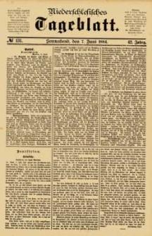 Niederschlesisches Tageblatt, no 131 (Sonnabend, den 7. Juni 1884)