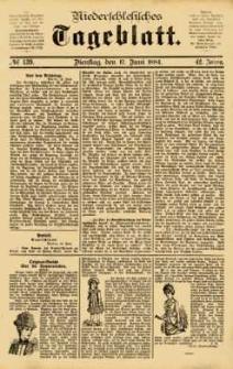 Niederschlesisches Tageblatt, no 139 (Dienstag, den 17. Juni 1884)