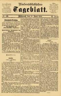 Niederschlesisches Tageblatt, no 140 (Mittwoch, den 18. Juni 1884)