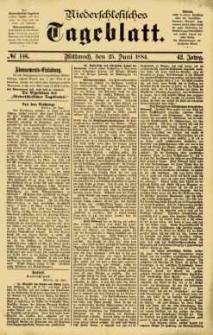 Niederschlesisches Tageblatt, no 146 (Mittwoch, den 25. Juni 1884)