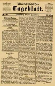 Niederschlesisches Tageblatt, no 148 (Donnerstag, den 27. Juni 1884)