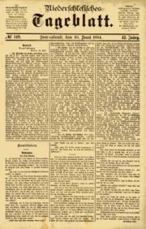 Niederschlesisches Tageblatt, no 149 (Sonnabend, den 28. Juni 1884)