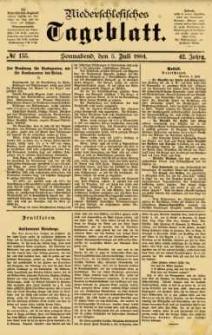 Niederschlesisches Tageblatt, no 155 (Sonnabend, den 5. Juli 1884)