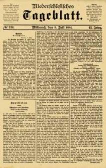 Niederschlesisches Tageblatt, no 158 (Mittwoch, den 9. Juli 1884)