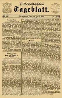 Niederschlesisches Tageblatt, no 167 (Sonnabend, den 19. Juli 1884)