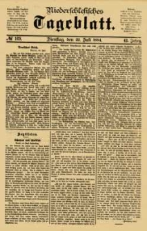 Niederschlesisches Tageblatt, no 169 (Dienstag, den 22. Juli 1884)