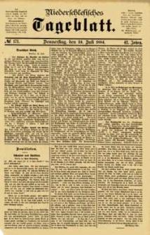 Niederschlesisches Tageblatt, no 171 (Donnerstag, den 24. Juli 1884)