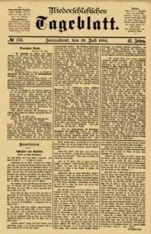 Niederschlesisches Tageblatt, no 173 (Sonnabend, den 26. Juli 1884)