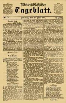 Niederschlesisches Tageblatt, no 174 (Sonntag, den 27. Juli 1884)
