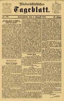 Niederschlesisches Tageblatt, no 179 (Sonnabend, den 2. August 1884)