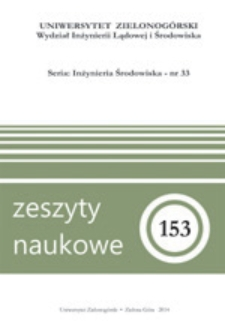 Zeszyty Naukowe Uniwersytetu Zielonogórskiego: Inżynieria Środowiska, Tom 33