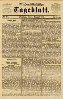 Niederschlesisches Tageblatt, no 181 (Dienstag, den 5. August 1884)