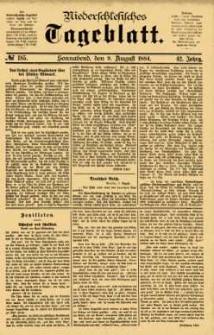 Niederschlesisches Tageblatt, no 185 (Sonnabend, den 9. August 1884)