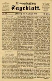 Niederschlesisches Tageblatt, no 188 (Mittwoch, den 13. August 1884)