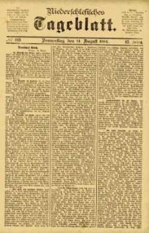 Niederschlesisches Tageblatt, no 189 (Donnerstag, den 14. August 1884)