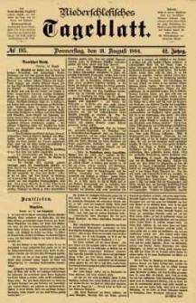 Niederschlesisches Tageblatt, no 195 (Donnerstag, den 21. August 1884)