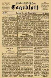 Niederschlesisches Tageblatt, no 196 (Freitag, den 22. August 1884)